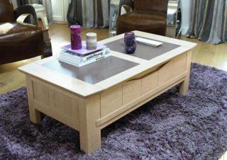 Table basse en bois et ceramique