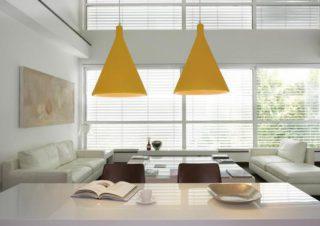 Suspension conique moderne aux couleurs vives