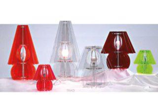 Sériesde lampes à poser en plexiglas. Nombreuses couleurs