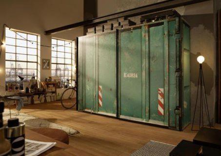 Meuble industriel Simeuble : armoire style industriel façon container