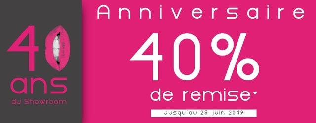 Bannière Anniversaire 40 ans - 40% de remise sur les meubles Simeuble