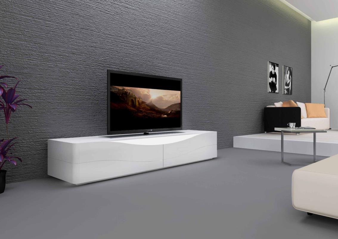 acheter votre meuble tv bas 2 abattants et range dvd. Black Bedroom Furniture Sets. Home Design Ideas