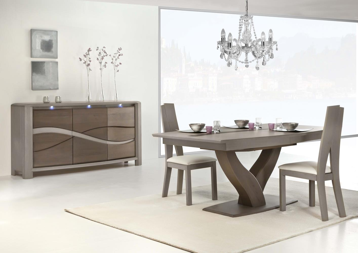 acheter votre table moderne pied central y en ch ne massif chez simeuble. Black Bedroom Furniture Sets. Home Design Ideas