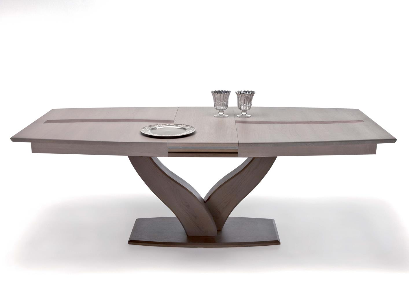 Acheter votre table moderne pied central y en ch ne massif for Table pied central