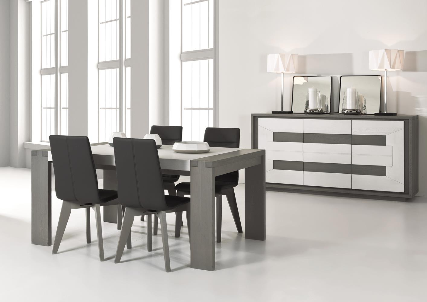 acheter votre table moderne en ch ne avec allonge chez simeuble. Black Bedroom Furniture Sets. Home Design Ideas
