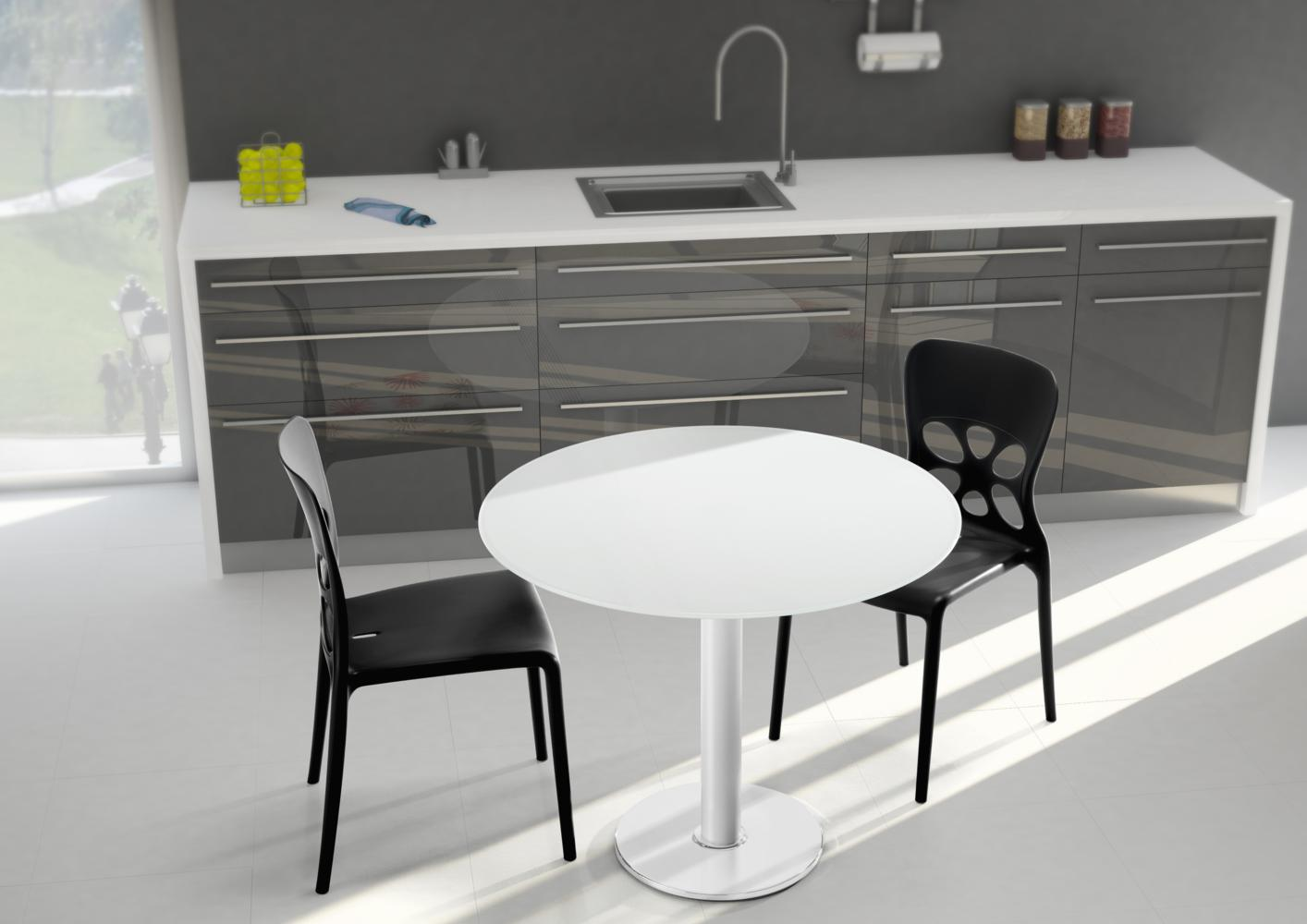 Acheter votre table ronde contemporaine chez simeuble for Table contemporaine