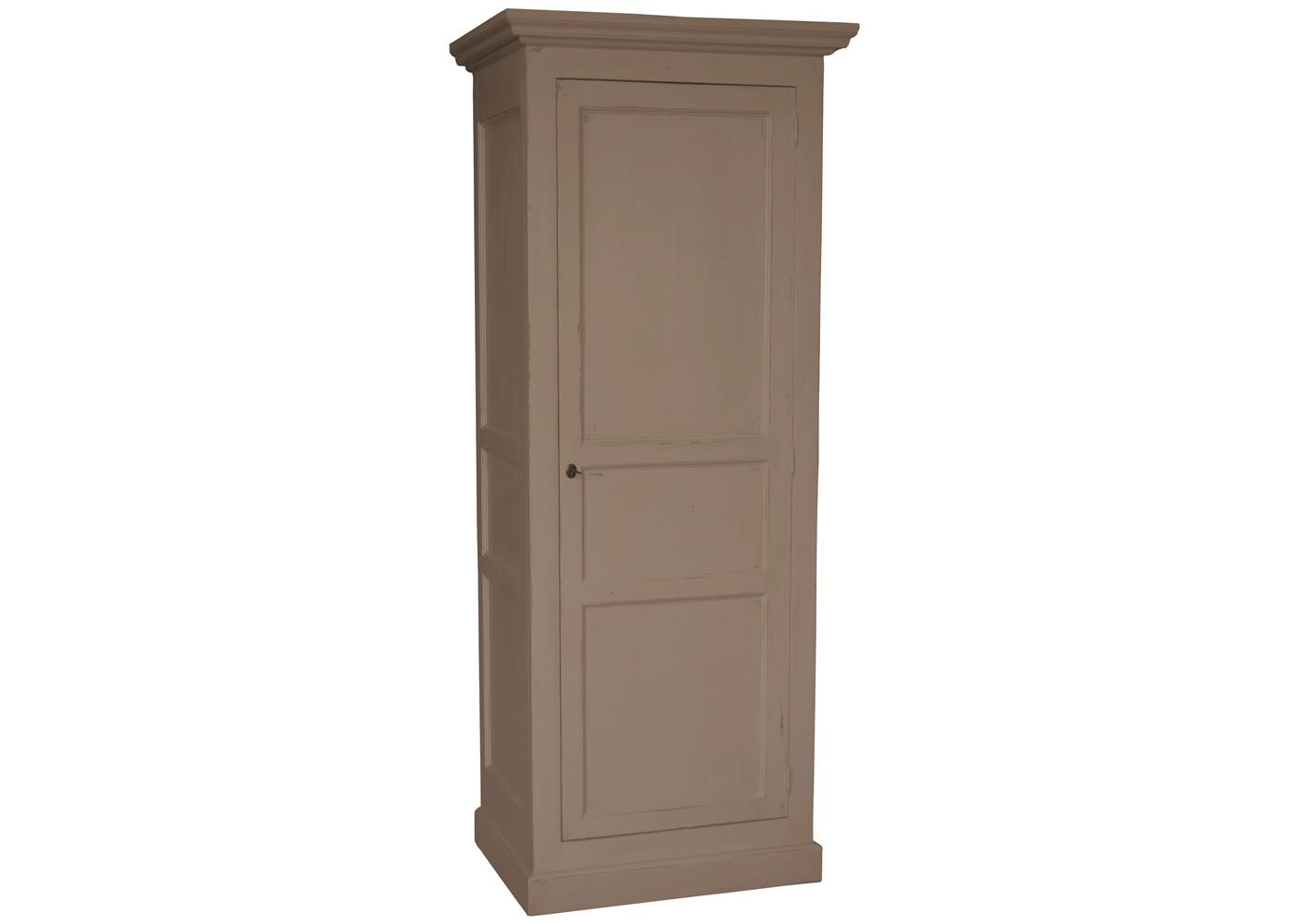 acheter votre armoire 1 porte en pin massif taupe toute. Black Bedroom Furniture Sets. Home Design Ideas