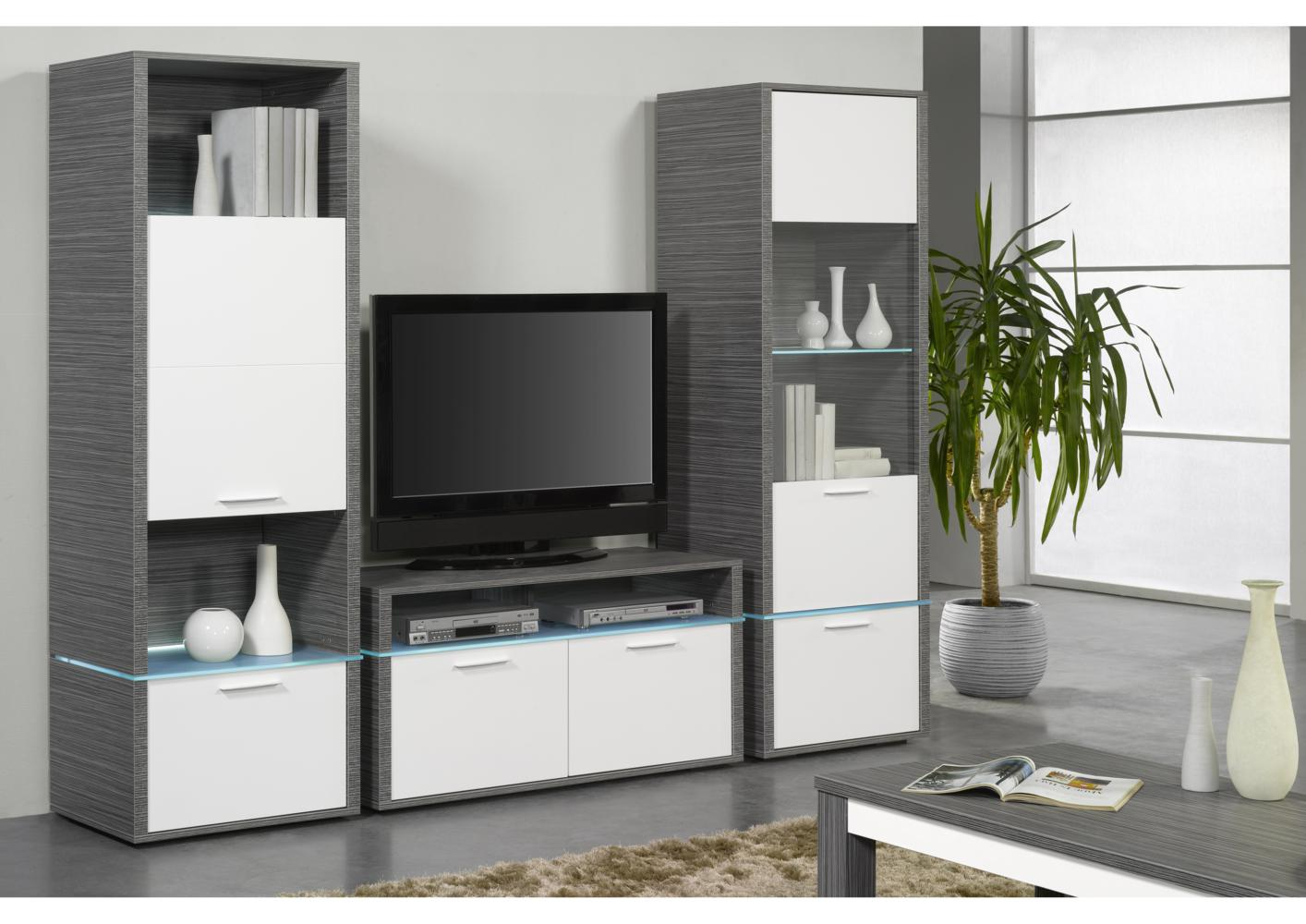 meuble tv avec colonne maison design. Black Bedroom Furniture Sets. Home Design Ideas