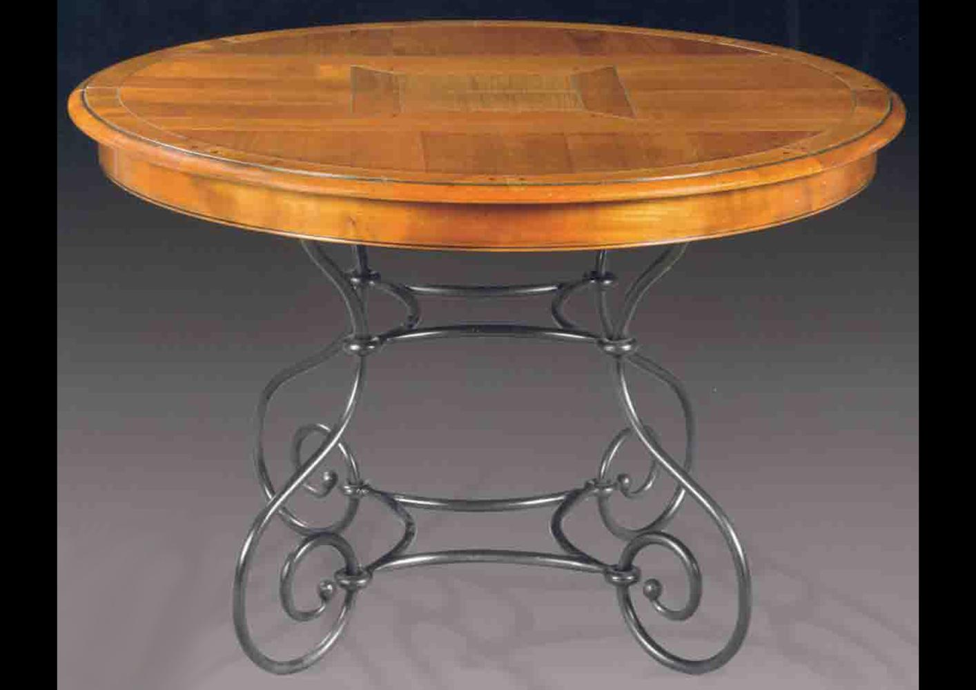 Table Fer Forge Ronde.Table Ronde Pietement Fer Forge