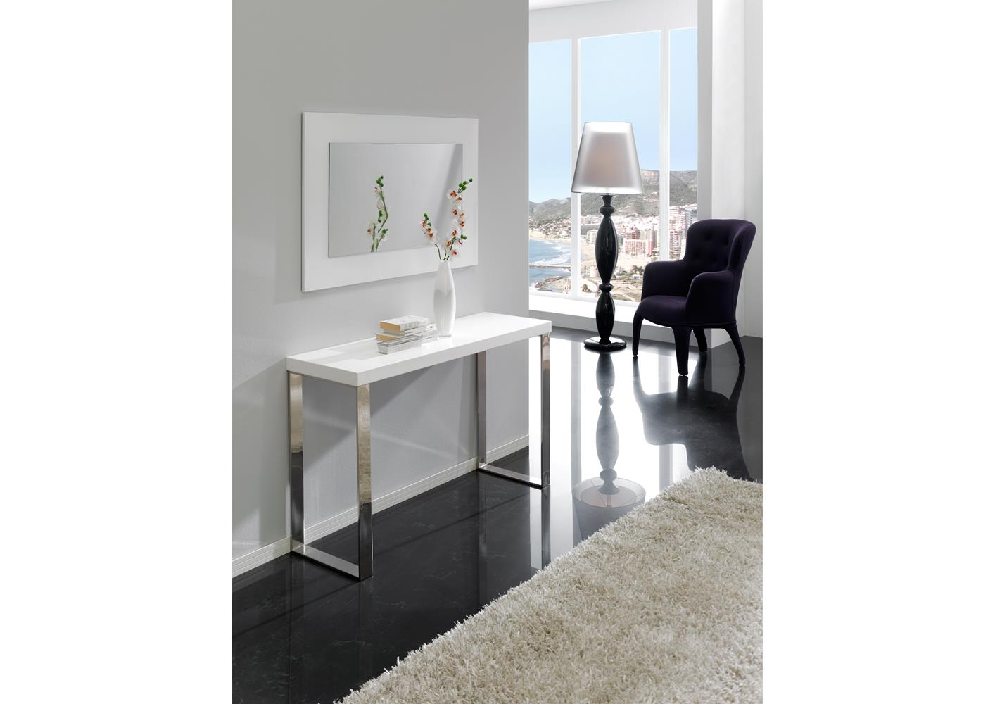acheter votre console contemporaine en verre chez simeuble. Black Bedroom Furniture Sets. Home Design Ideas