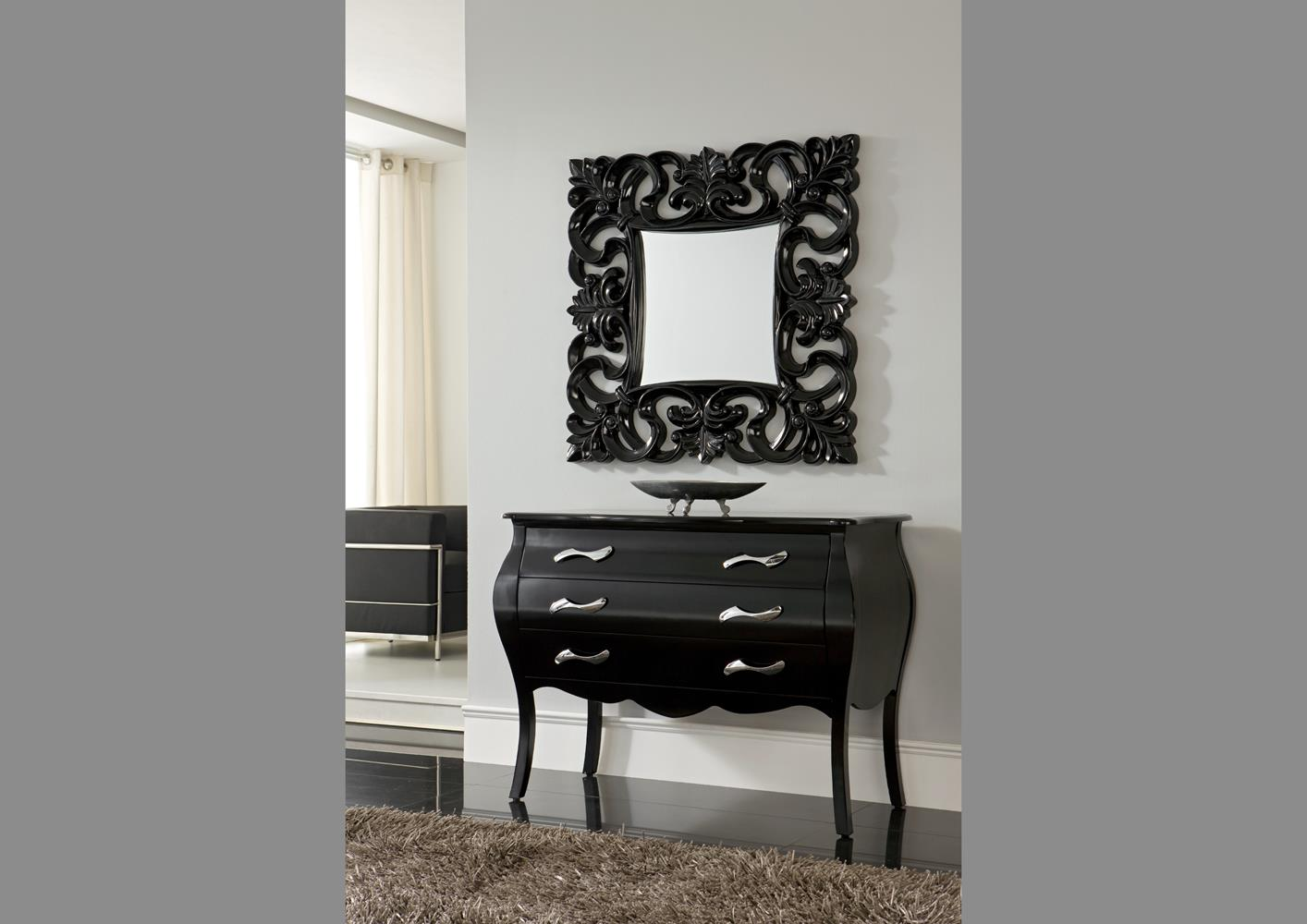 commode noir pas cher top commode design tiroirs noire et. Black Bedroom Furniture Sets. Home Design Ideas