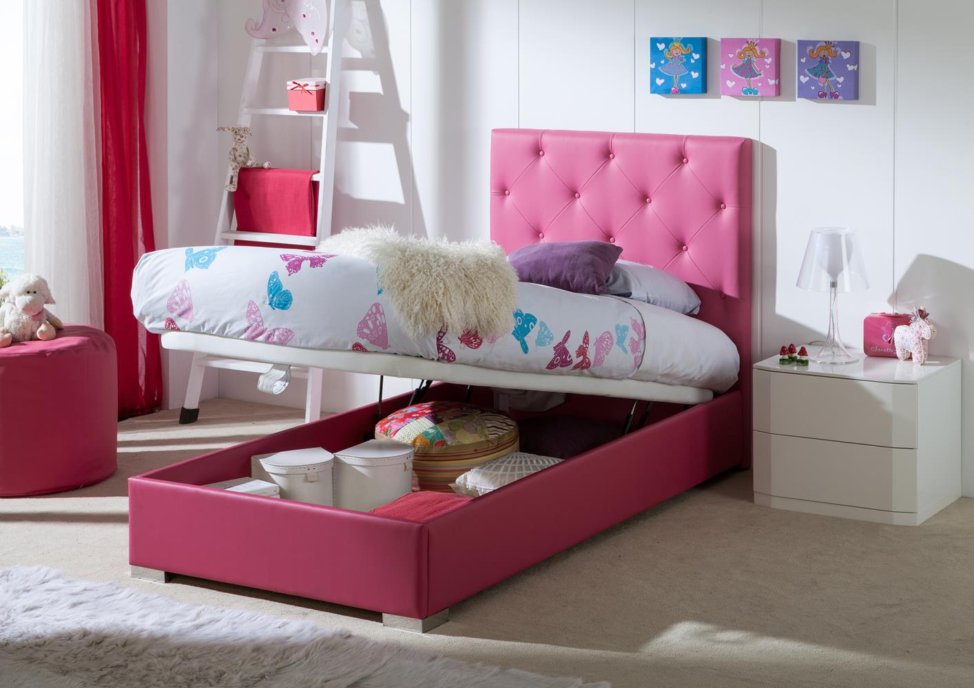 acheter votre t te de lit fuscia capitonn e chez simeuble. Black Bedroom Furniture Sets. Home Design Ideas