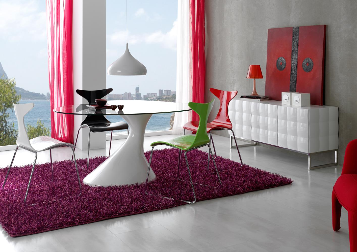 acheter votre table couleur noyer pied central et allonge chez simeuble. Black Bedroom Furniture Sets. Home Design Ideas
