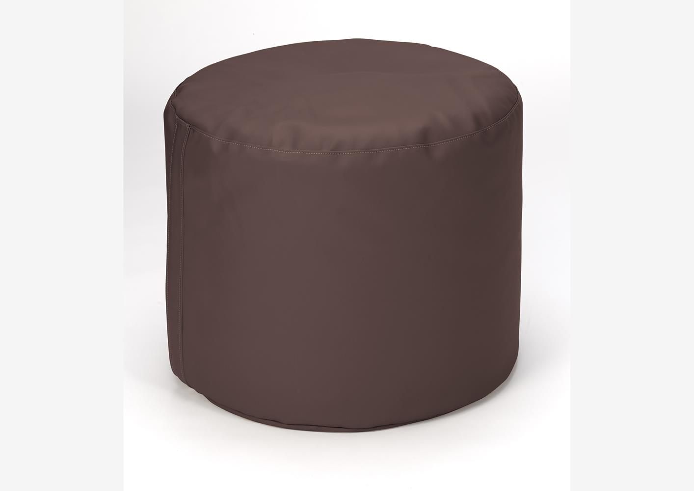 acheter votre pouf rond moderne chocolat chez simeuble. Black Bedroom Furniture Sets. Home Design Ideas