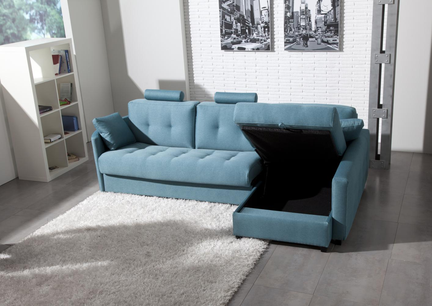 acheter votre canap contemporain tissu bleu avec t ti re. Black Bedroom Furniture Sets. Home Design Ideas