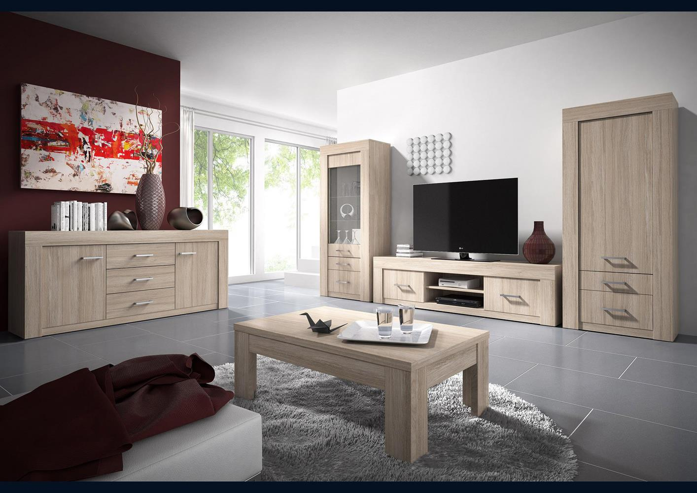 acheter votre meuble t l moderne 2 portes 1 niche chez simeuble. Black Bedroom Furniture Sets. Home Design Ideas