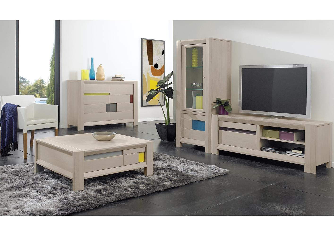 acheter votre meuble t l moderne en ch ne 1 porte 1 niche. Black Bedroom Furniture Sets. Home Design Ideas