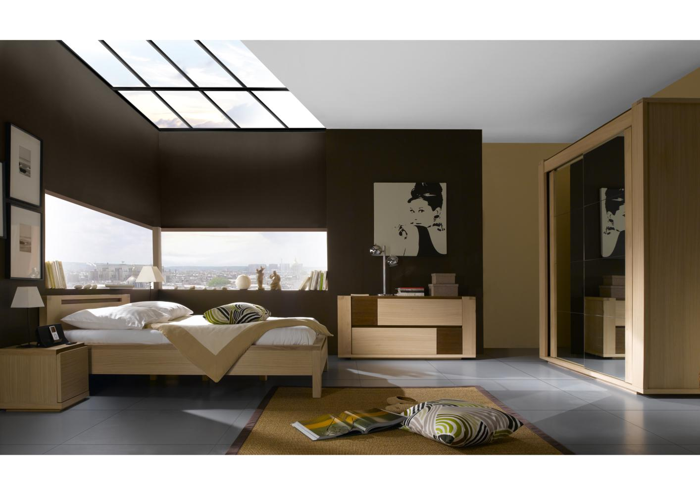 acheter votre lit contemporain couchage en 140 ou 160 cm chez simeuble. Black Bedroom Furniture Sets. Home Design Ideas