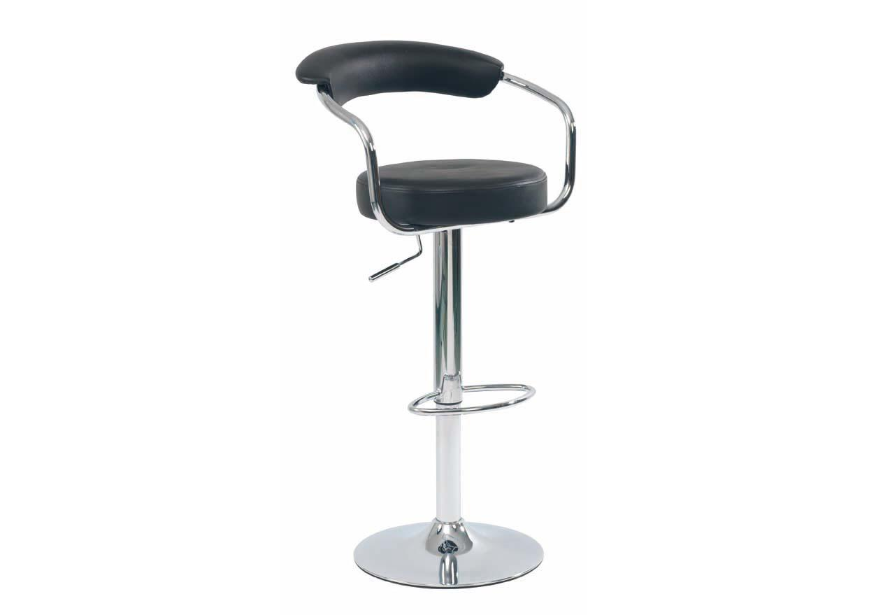 acheter votre tabouret de bar contemporain pied chrome chez simeuble. Black Bedroom Furniture Sets. Home Design Ideas