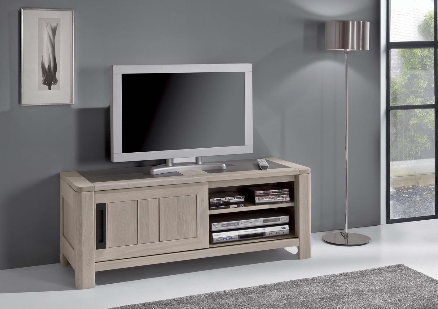 acheter votre meuble tv chene massif et ceramique 1 porte. Black Bedroom Furniture Sets. Home Design Ideas