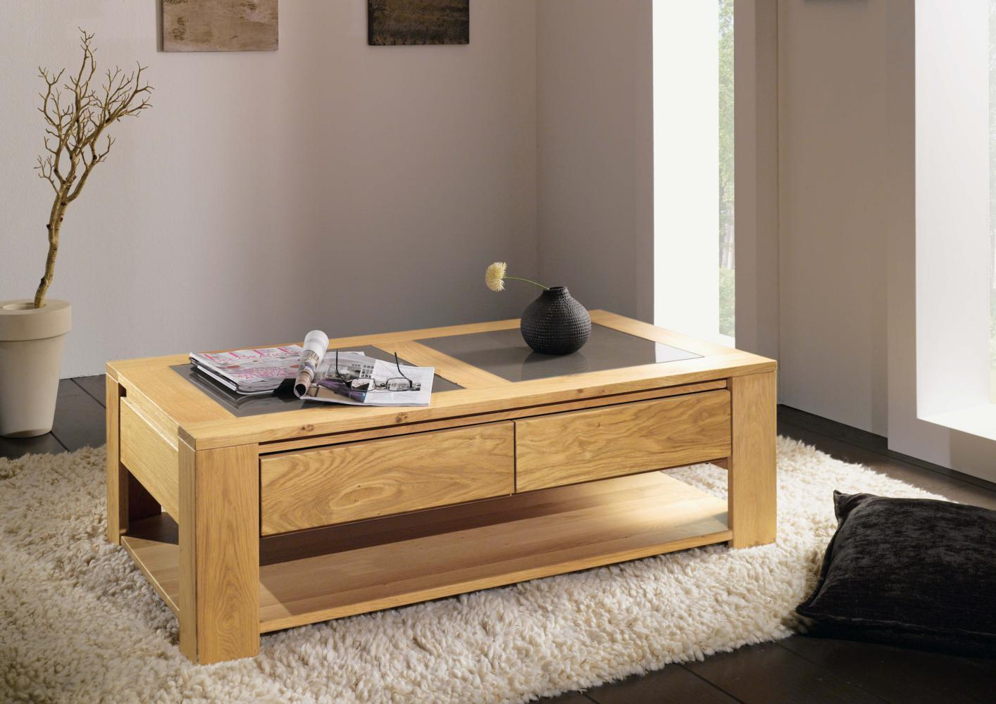 Table basse chene massif - Table basse chene clair massif ...