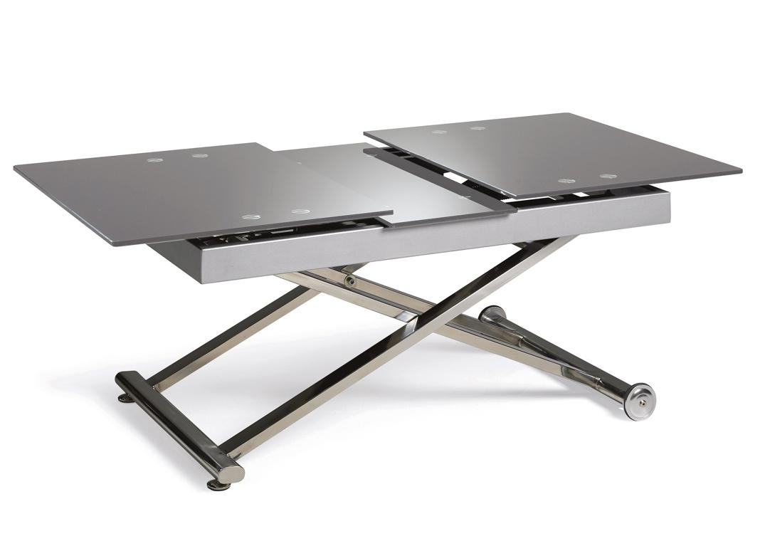 Table relevable plateau verre - Table relevable en verre ...