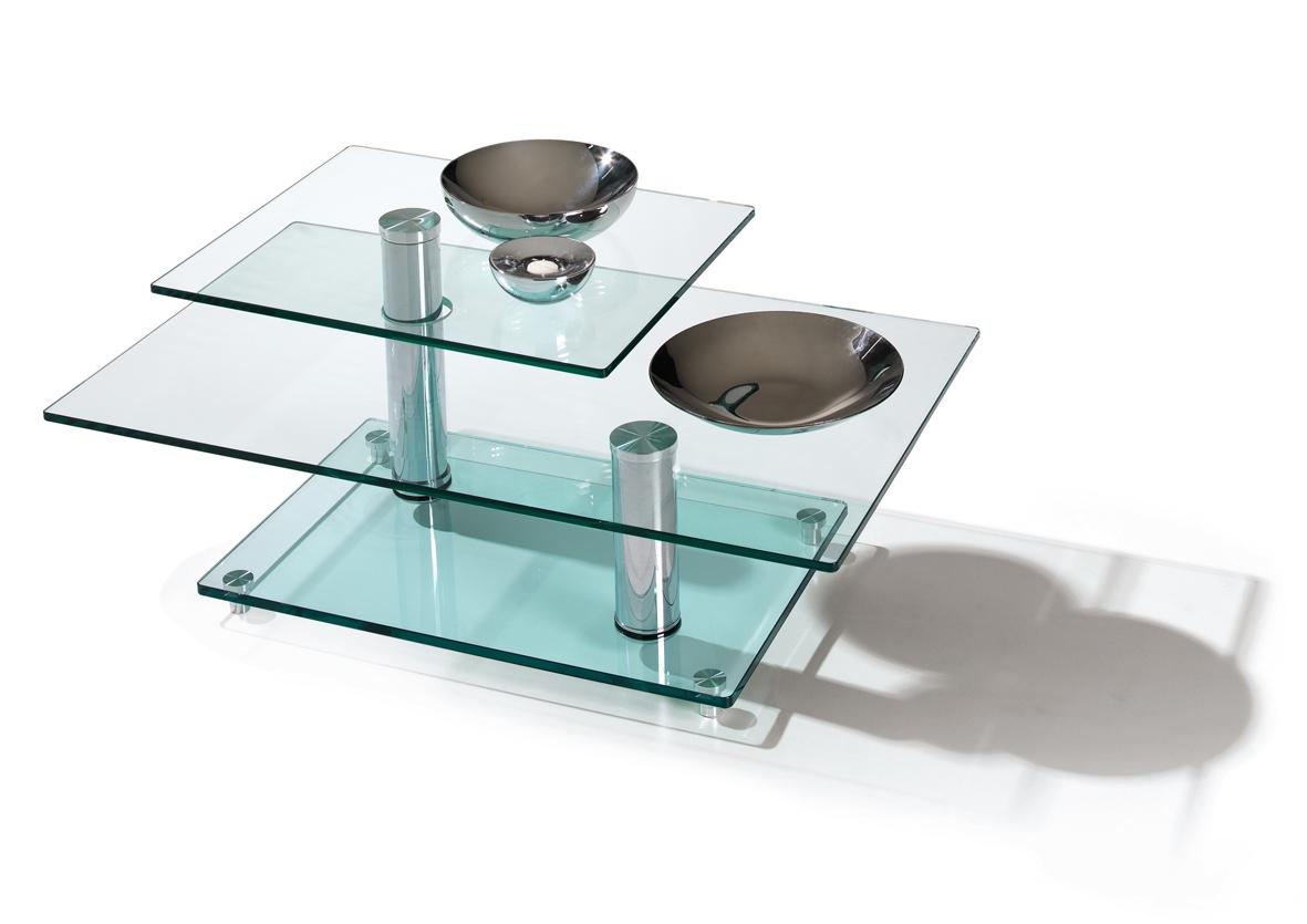 Table basse plateau verre alinea - Table basse plateau pivotant ...