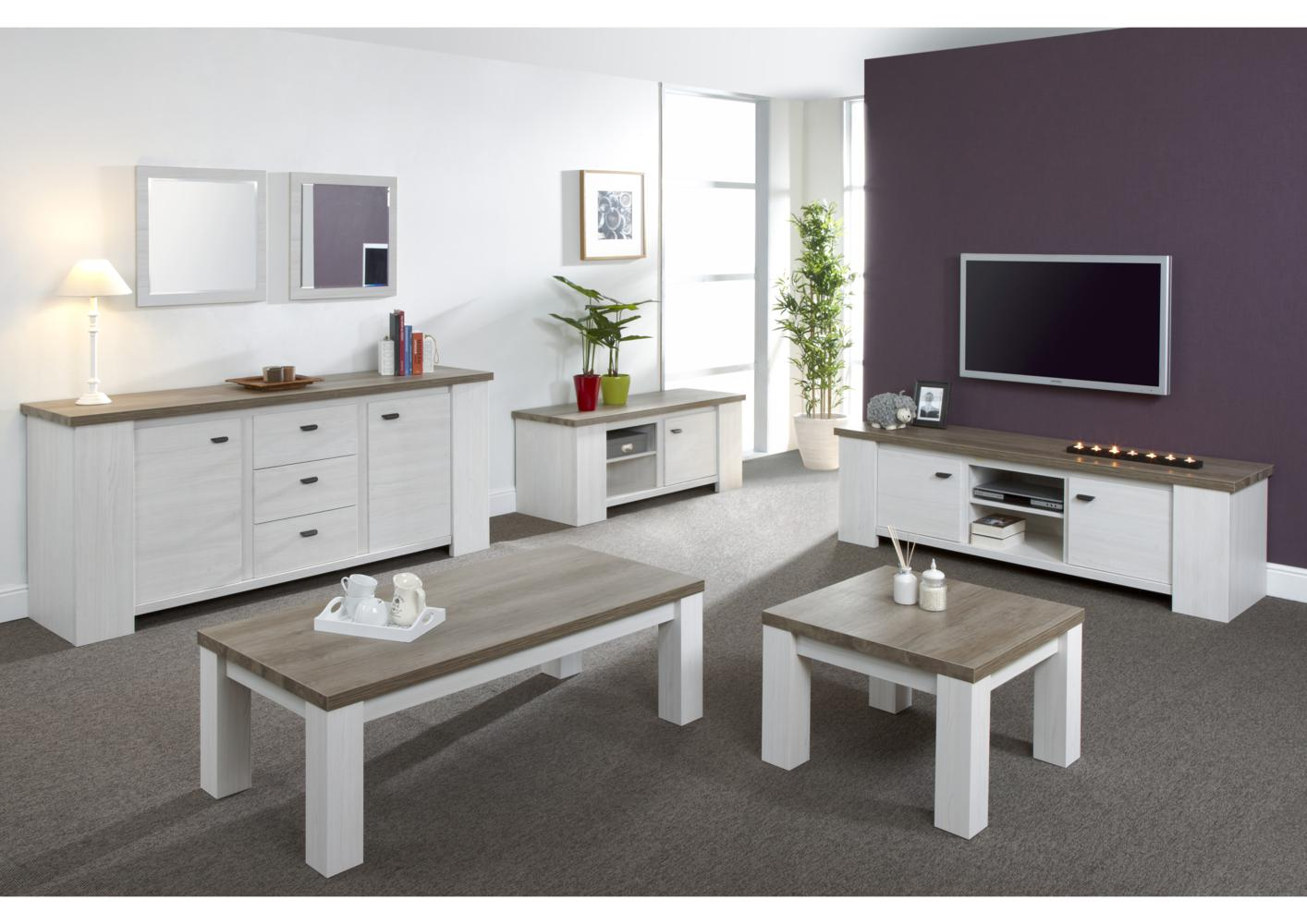 acheter votre meuble tv moderne bicolor chez simeuble. Black Bedroom Furniture Sets. Home Design Ideas