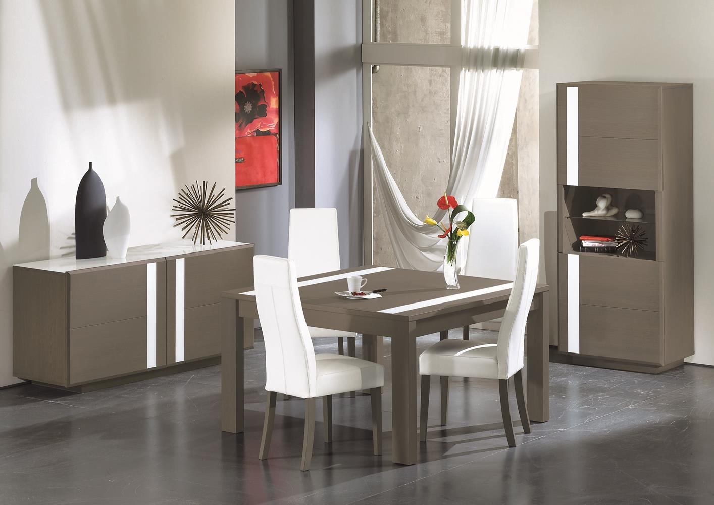 table contemporaine carree avec allonge. Black Bedroom Furniture Sets. Home Design Ideas