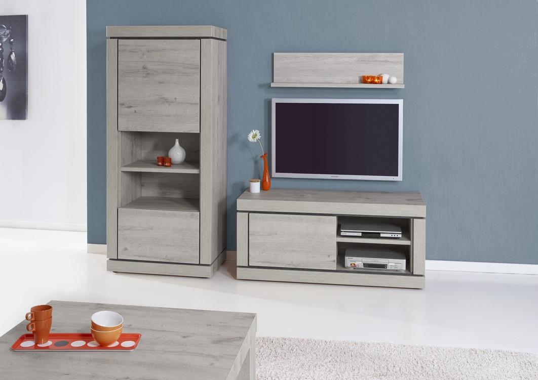 acheter votre meuble t l moderne 1 porte 1 niche en m lamin chez simeuble. Black Bedroom Furniture Sets. Home Design Ideas