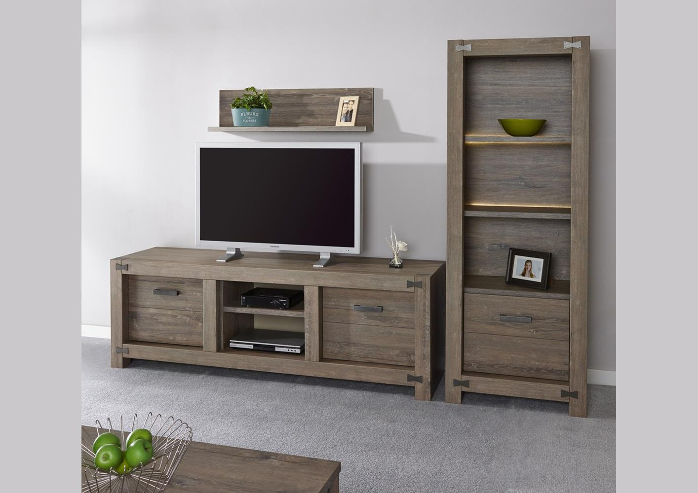 acheter votre meuble tv style exotique 2 portes 1 niche chez simeuble. Black Bedroom Furniture Sets. Home Design Ideas