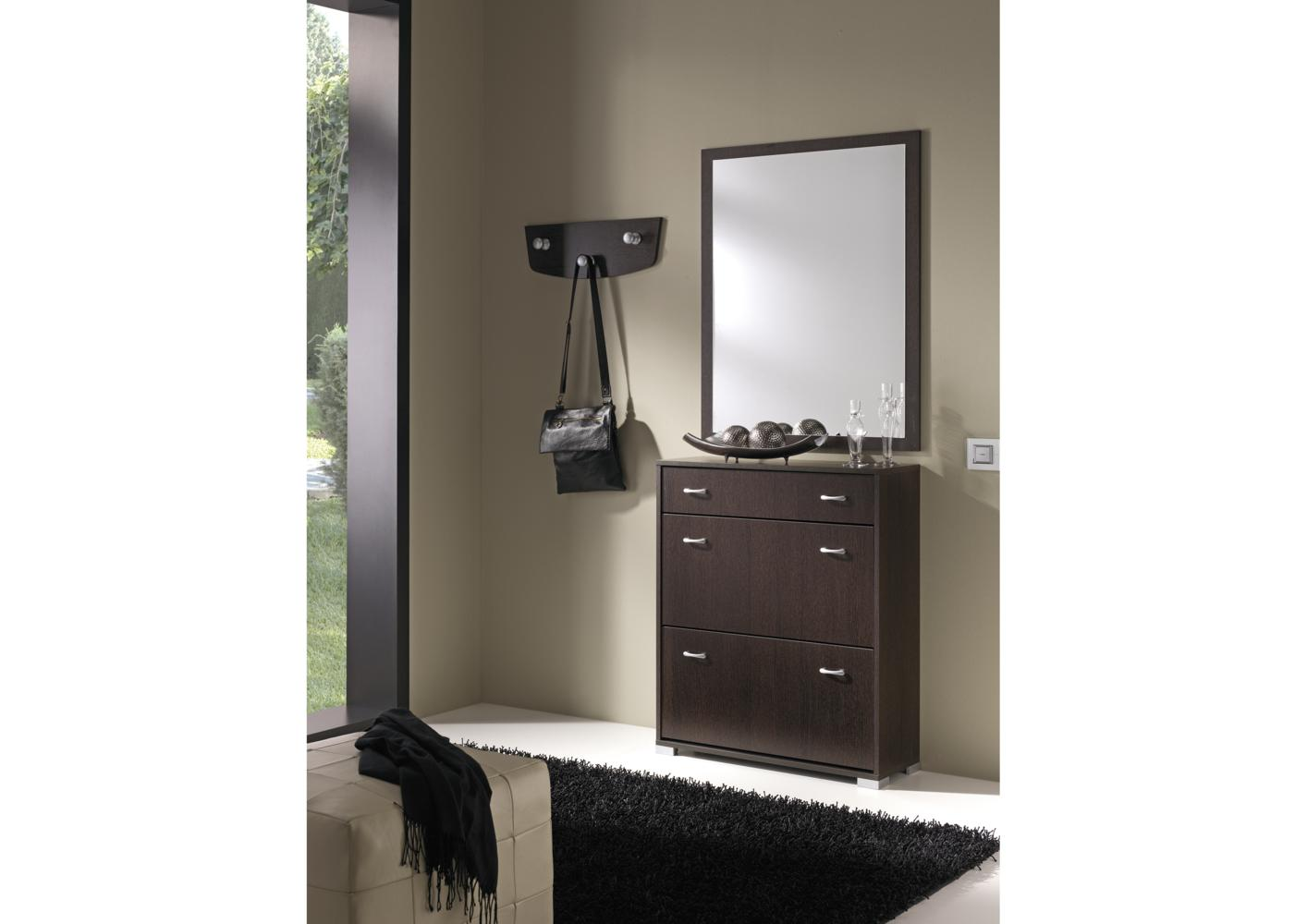 meuble chaussure miroir. Black Bedroom Furniture Sets. Home Design Ideas