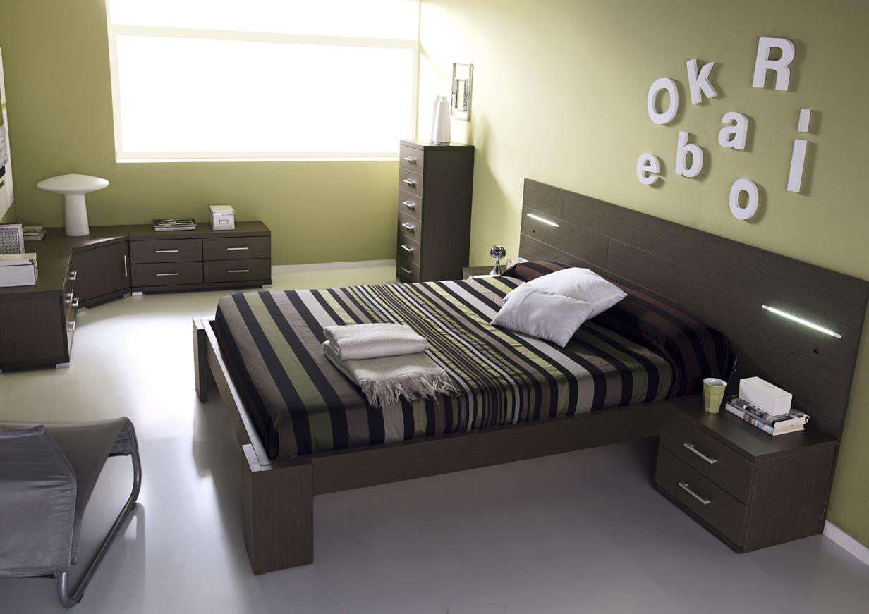 acheter votre lit 160 avec t te de lit led et chevet chez. Black Bedroom Furniture Sets. Home Design Ideas