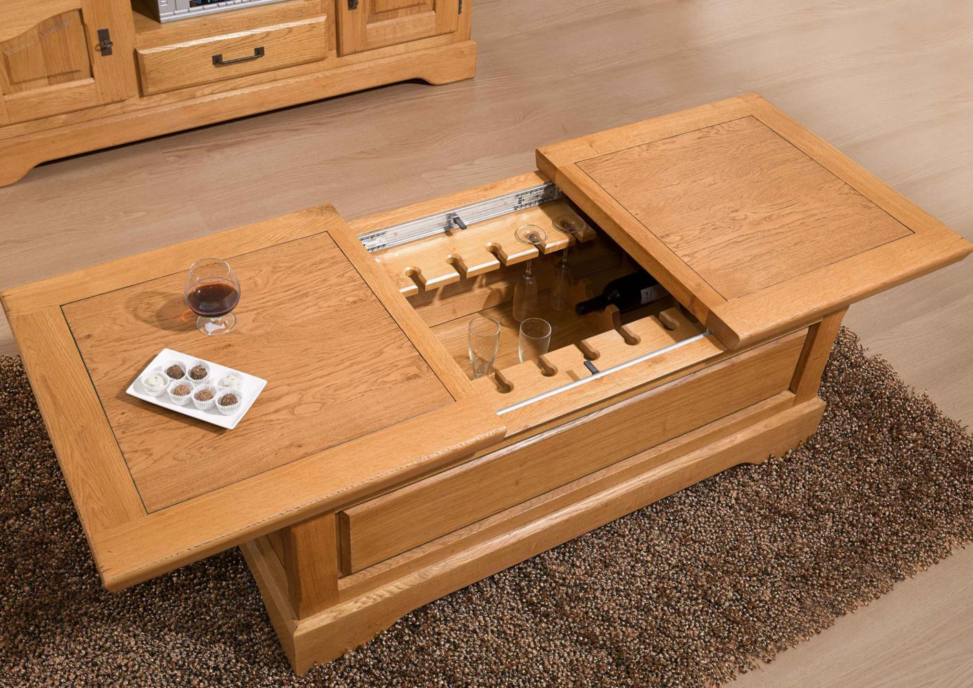 Table basse bar en chene massif - Customiser table basse ...