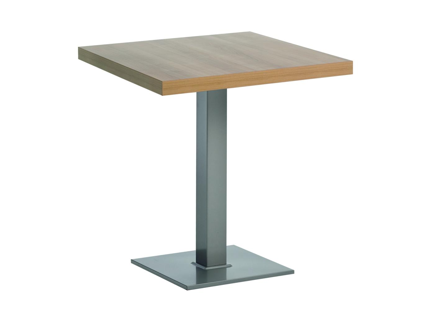 table avec pied central