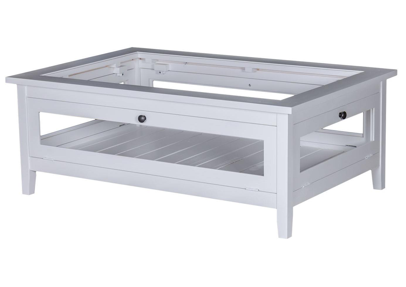 Acheter votre table basse carr e en pin massif blanche for Table de salon carre