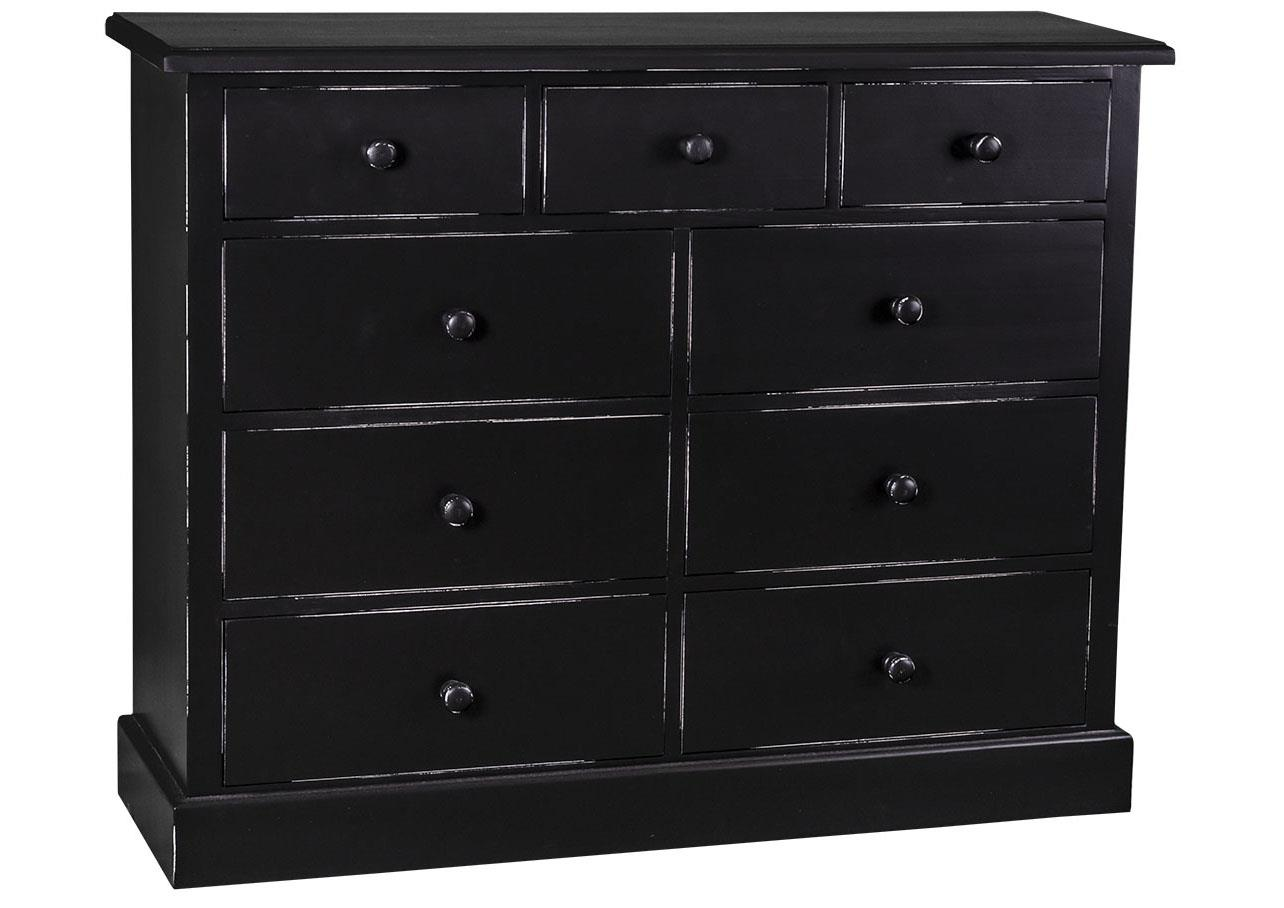 acheter votre commode en pin massif multicolore 7 tiroirs chez simeuble. Black Bedroom Furniture Sets. Home Design Ideas