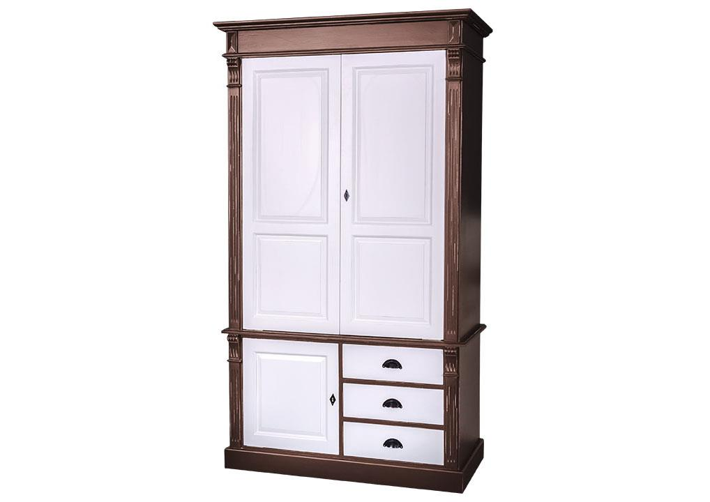 une armoire en anglais armoire en pin massif bicolore avec penderie. Black Bedroom Furniture Sets. Home Design Ideas