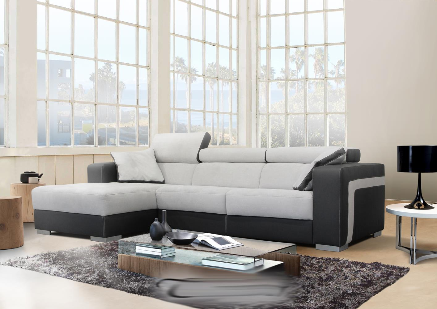 acheter votre canap chaise longue accoudoirs d cor vague chez simeuble. Black Bedroom Furniture Sets. Home Design Ideas