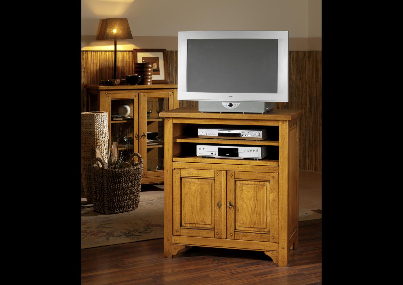 acheter votre meuble tv d 39 angle 1 porte 1 tirette chez. Black Bedroom Furniture Sets. Home Design Ideas
