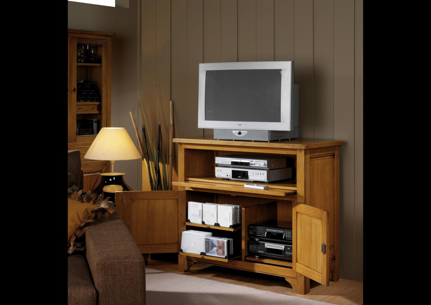 acheter votre meuble tv hifi double niche desus fixe chez. Black Bedroom Furniture Sets. Home Design Ideas