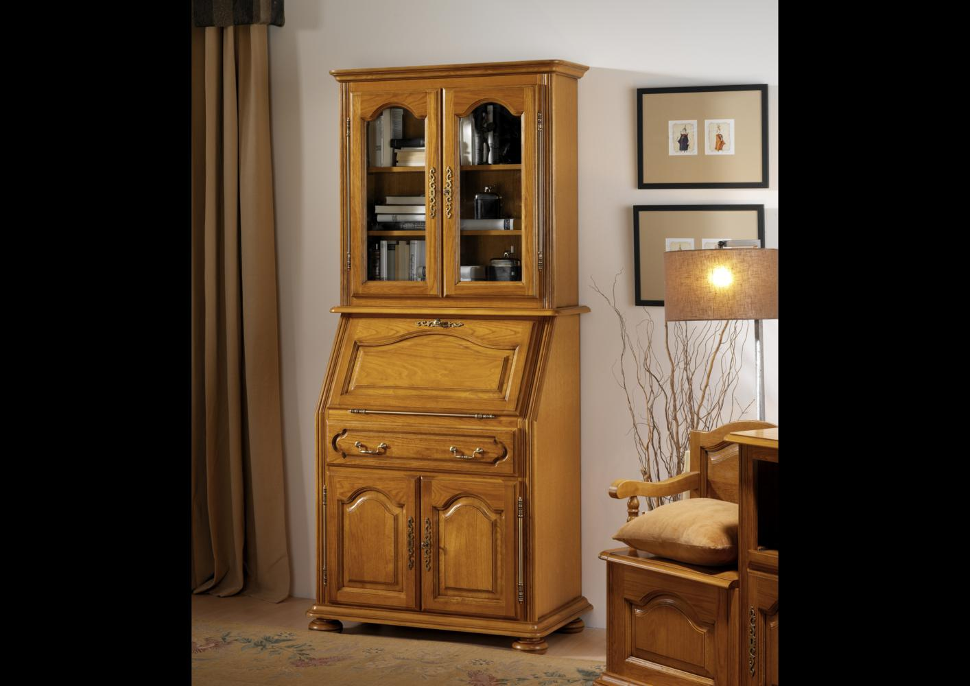 acheter votre meuble secr taire avec option haut biblioth que chez simeuble. Black Bedroom Furniture Sets. Home Design Ideas