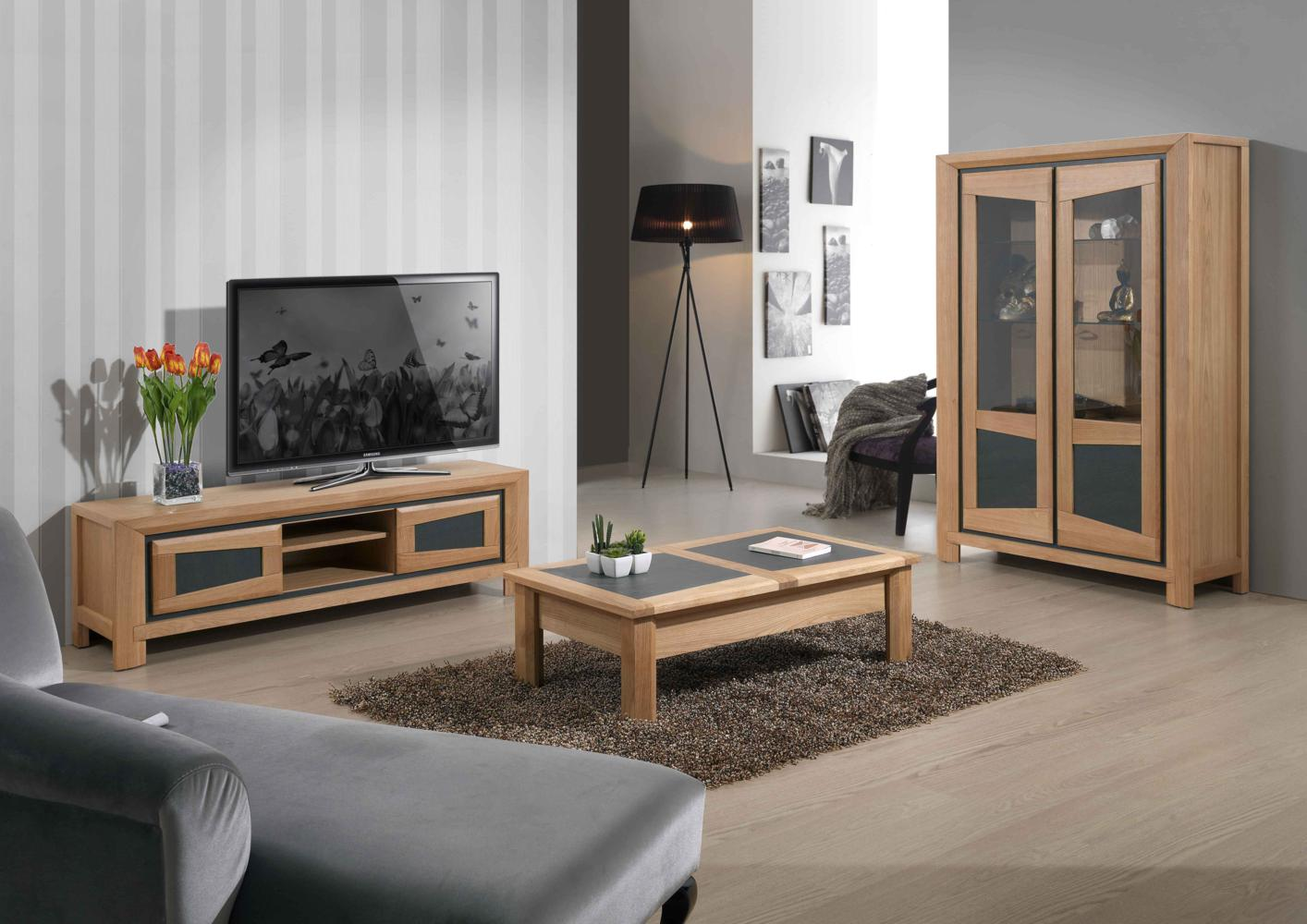 ensemble table basse meuble tv bois massif. Black Bedroom Furniture Sets. Home Design Ideas