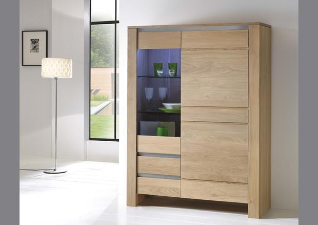 acheter votre bibliotheque 2 portes chene massif chez simeuble. Black Bedroom Furniture Sets. Home Design Ideas