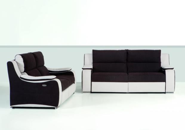 acheter votre canap contemporain 2 places fixe ou relax cuir tissu ou microfibre chez simeuble. Black Bedroom Furniture Sets. Home Design Ideas