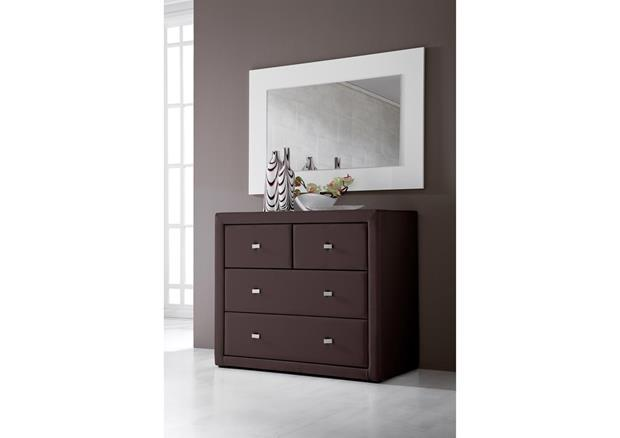 Commode originale 4 tiroirs en pvc marron