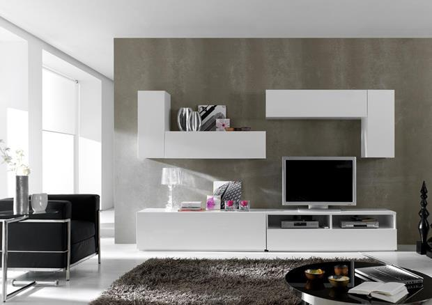 acheter votre meuble t l bicolore style r tro 2 portes 1. Black Bedroom Furniture Sets. Home Design Ideas