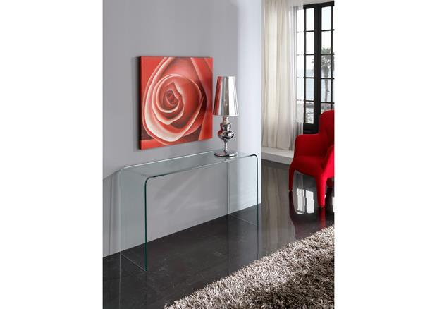 Console contemporaine en verre