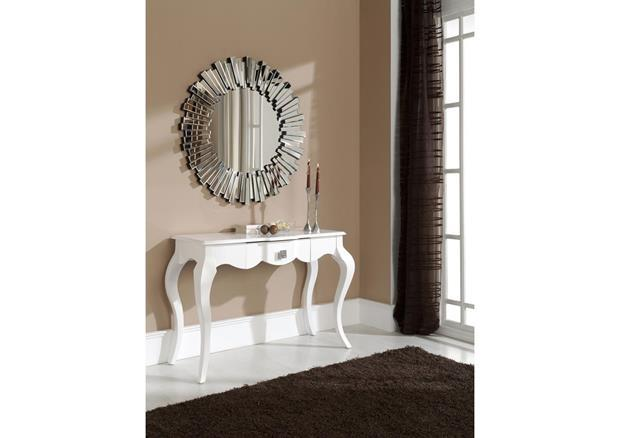 acheter votre console style baroque laqu e blanche chez simeuble. Black Bedroom Furniture Sets. Home Design Ideas