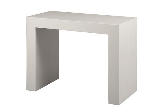 Jolie console extensible 3 allonges laque blanche